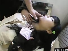 grooming my oriental doll