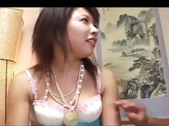 playing with her oriental bushy vagina
