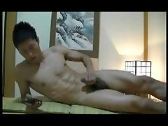 hetero oriental dick jerks off
