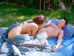kira kener - sex outside on a sofa