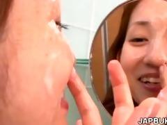 yielding japanese bukkake cum bitch