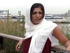 lustful arab beauty in a white scarf gets part9