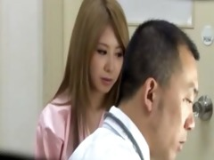 blond oriental acquires breast exam but doctor