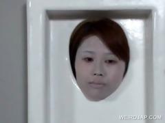 oriental teen actress receives fur pie rubbed