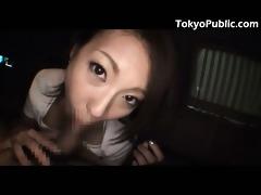 japan public sex - jizz flow in the car -