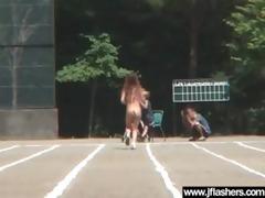 slut japanese love outdoor flashing and fucking