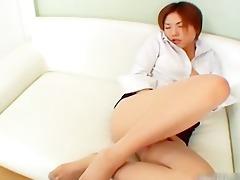 slutty japanese redhead masturbating part6