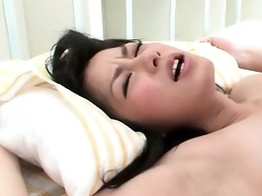 awesome oriental brunette hair acquires vagina