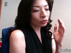 aged oriental wench gets he juicy curly part1