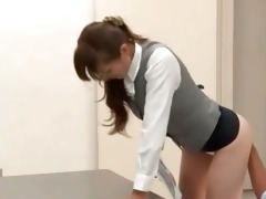 shy japanese cutie showing her wonderful booty