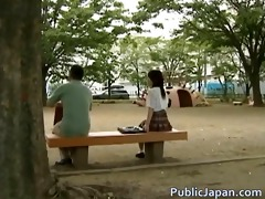 oriental model has sexy public sex part1