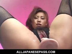sex toy loving japanese cougar nana nanami