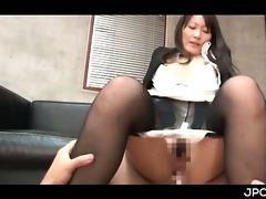 oriental office whore jumping hard shlong in her