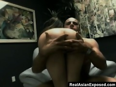 hawt oriental slut copulates for a facial