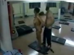 fucking a lady in the gym spy livecam