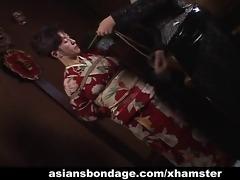 japanese milf in kimono acquires bound up