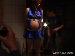 japanese sexy preggy in ropes acquires hardcore