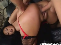 impeccable oriental hottie lucy lee receives