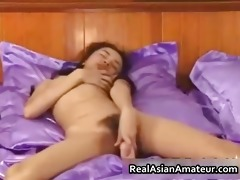 diminutive oriental honey disrobes and sex-toy