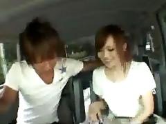 japanese sweetheart screwed inside the van