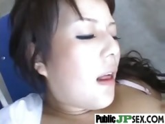 naughty japanese getting screwed in public place