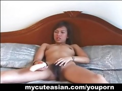 hawt cute asian solo toys insertion!