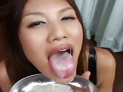 lusty oriental hottie in darksome underware