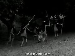 tribal dancing of nude indian cuties