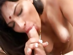 indian sweetheart receives her cum-hole drilled