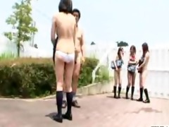 first day of undressed in school in japan