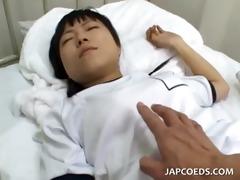 jap school honey slit teased taking loaded shaft