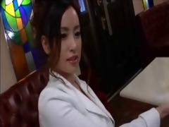 glamorous older japanese hostess is pliant at any