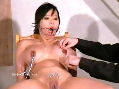 oriental needle sadomasochism of breasty japanese