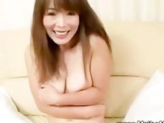 older japanese maiko teasing with her hirsute muff