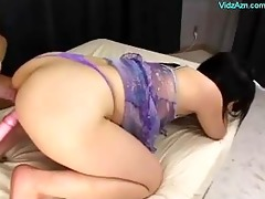 asian girl getting her hairless cunt and backdoor