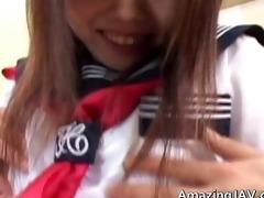 lascivious oriental schoolgirl in trio porn part1