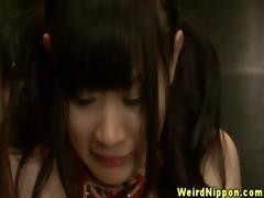 hawt oriental servitude girls receive felt up