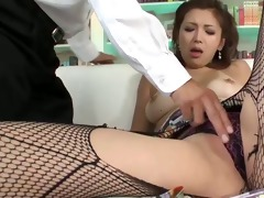 japanese mai kuroki is clothed up and ends up