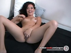 juicy asian dilettante carrie uses sex toy and