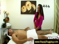 oriental masseuse feels underneath the towel