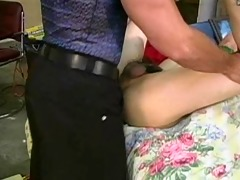 chinese t-girl gets 9 boys - old man sucks all