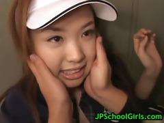 saya ueto schoolgirl acquires drilled