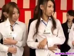 japanese women in outlandish show rip clothing