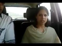 northindian youthful couples enjoyed in car