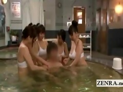 subtitled japanese sauna ladies bottomless massage