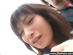 oriental wench gal get drilled after flash body