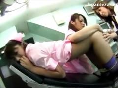 hot nurse getting her cunt backdoor licked