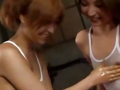 6 oriental angels in swimmingdress rubbing jelly