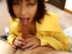 japanese tramp enjoys engulfing and riding schlong