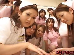 oriental nurses have a fun sex on top part11